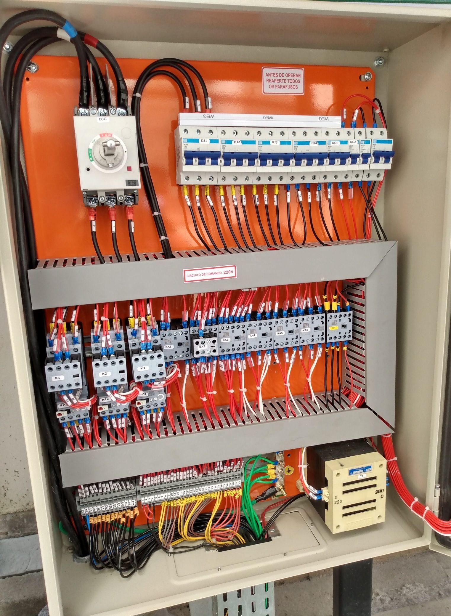 montagem do painel elétrico