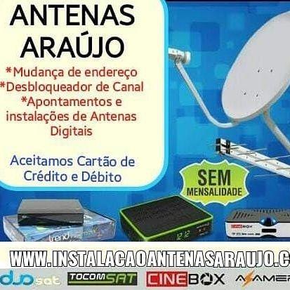 Apontamento todos os satélite antenas digital uhf