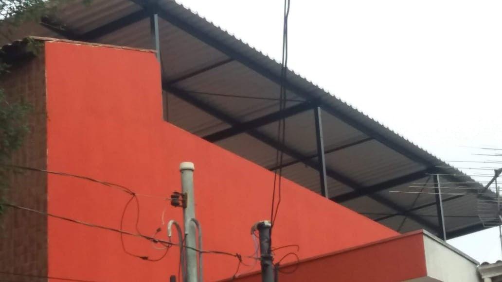 Área externa após cobertura e pintura