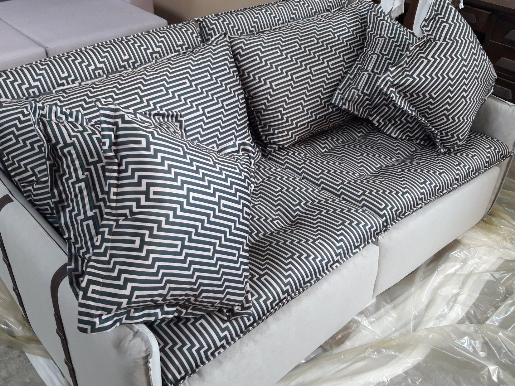 Lindo sofá limpo pela Super Limp